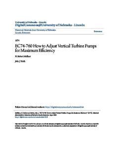 EC How to Adjust Vertical Turbine Pumps for Maximum Efficiency