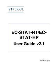 EC- STAT-HP. User Guide v2.1