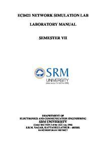 EC0421 NETWORK SIMULATION LAB LABORATORY MANUAL SEMESTER VII