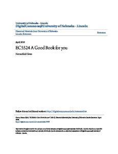EC5524 A Good Book for you