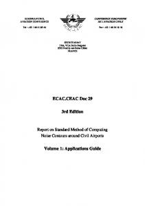 ECAC.CEAC Doc 29. 3rd Edition. Volume 1: Applications Guide