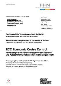 ECC Economic Cruise Control