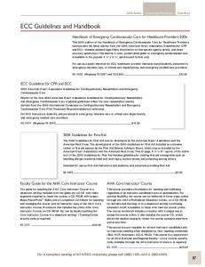 ECC Guidelines and Handbook