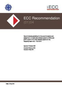 ECC Recommendation (01)04