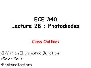 ECE 340 Lecture 28 : Photodiodes Class Outline: