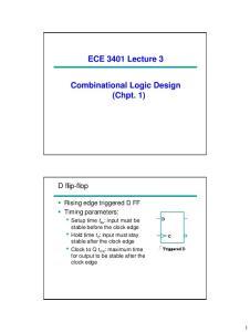 ECE 3401 Lecture 3. Combinational Logic Design (Chpt. 1)