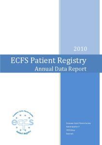 ECFS Patient Registry Annual Data Report