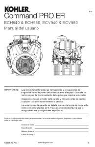 ECH940 & ECH980, ECV940 & ECV980 Manual del usuario