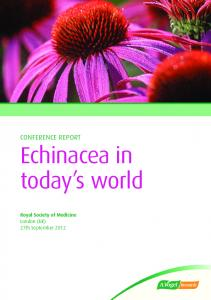 Echinacea in today s world