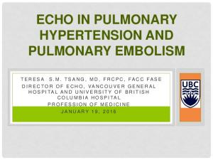 ECHO IN PULMONARY HYPERTENSION AND PULMONARY EMBOLISM
