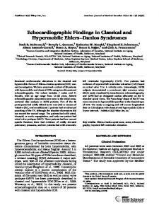 Echocardiographic Findings in Classical and Hypermobile Ehlers Danlos Syndromes