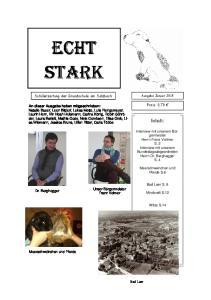 ECHT STARK. Inhalt: Schülerzeitung der Grundschule am Salzbach. Preis: 0,70