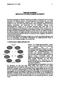 Eckhard Frick Seelsorge und Medizin Spiritual Care: Ein neues Fachgebiet der Medizin?