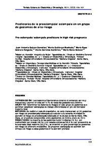eclampsia en un grupo de gestantes de alto riesgo