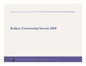 Eclipse Community Survey 2009