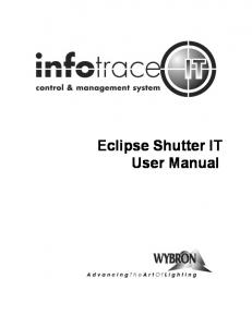 Eclipse Shutter IT User Manual