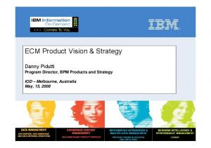 ECM Product Vision & Strategy