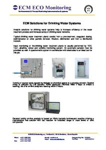 ECM Solutions for Drinking Water Systems
