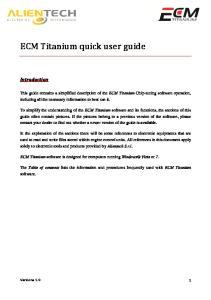 ECM Titanium. Introduction