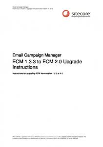ECM to ECM 2.0 Upgrade Instructions