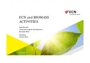 ECN and BIOMASS ACTIVITIES