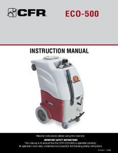 ECO-500 INSTRUCTION MANUAL