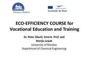 ECO-EFFICIENCY COURSE for Vocational Education and Training