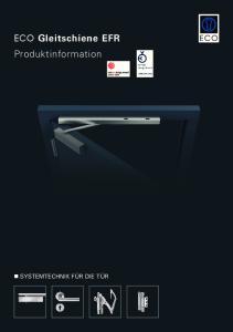 ECO Gleitschiene EFR Produktinformation