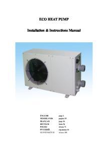ECO HEAT PUMP. Installation & Instructions Manual