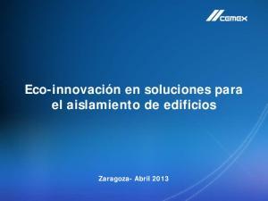 Eco-innovación en soluciones para el aislamiento de edificios