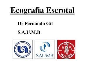 Ecografia Escrotal. Dr Fernando Gil S.A.U.M.B