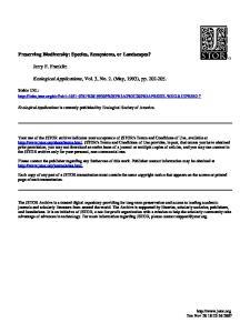Ecological Applications, Vol. 3, No. 2. (May, 1993), pp