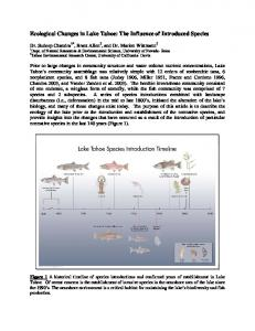 Ecological Changes in Lake Tahoe: The Influence of Introduced Species