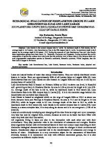 ECOLOGICAL EVALUATION OF ZOOPLANKTON GROUPS IN LAKE GERANIMOVAS-ILZAS AND LAKE GARAIS