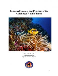 Ecological Impacts and Practices of the Coral Reef Wildlife Trade