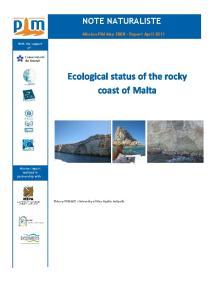 Ecological status of the rocky coast of Malta