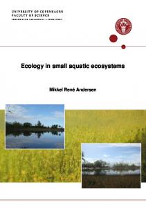 Ecology in small aquatic ecosystems