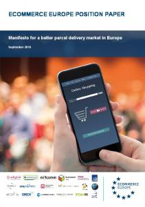 ECOMMERCE EUROPE POSITION PAPER