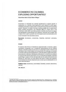ECOMMERCE IN COLOMBIA: EXPLODING OPPORTUNITIES?