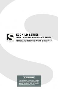 ECON LD SERIES INSTALLATION AND MAINTENANCE MANUAL