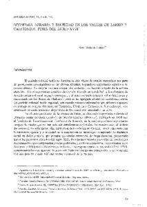ECONOMIA AGRARIA Y SOCIEDAD EN LOS VALLES DE LERMA Y CALCHAQUI. FINES DEL SIGLO XVIII'