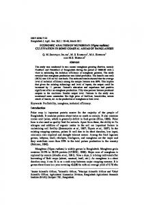 ECONOMIC ANALYSIS OF MUNGBEAN (Vigna radiata) CULTIVATION IN SOME COASTAL AREAS OF BANGLADESH. Abstract