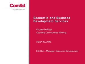 Economic and Business Development Services