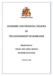 ECONOMIC AND FINANCIAL POLICIES THE GOVERNMENT OF BARBADOS