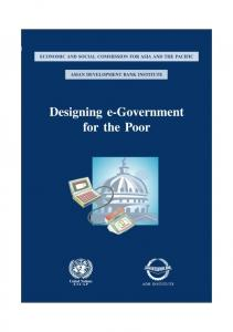 ECONOMIC AND SOCIAL COMMISSION FOR ASIA AND THE PACIFIC ASIAN DEVELOPMENT BANK INSTITUTE