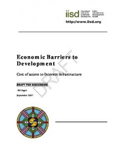 Economic Barriers to Development
