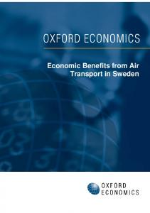 Economic Benefits from Air Transport in Sweden