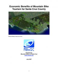 Economic Benefits of Mountain Bike Tourism for Santa Cruz County Mountain Biking in Santa Cruz County