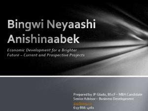 Economic Development for a Brighter Future Current and Prospective Projects