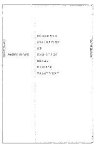 ECONOMIC EVALUATION. Ardine de Wit END-STAGE RENAL DISEASE TREATMENT